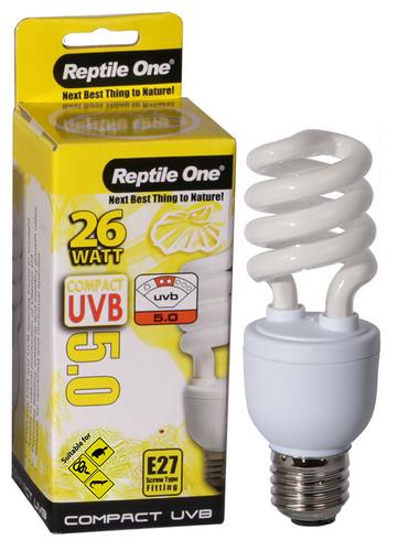 Reptile One Compact UVB Bulb 26W UVB 5.0 E27 Fitting (46699)