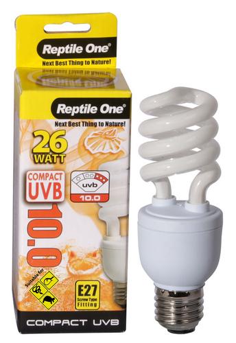 Reptile One Compact UVB Bulb 26W UVB 10.0 E27 Fitting (46700)