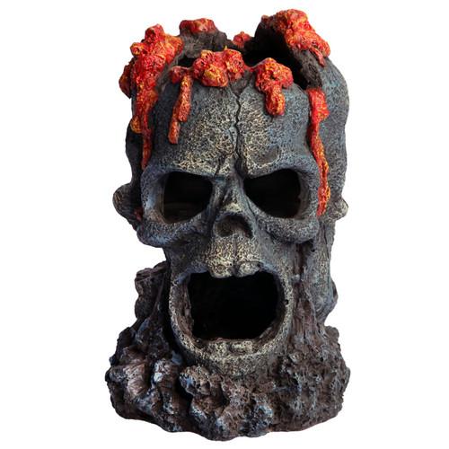 Aqua One 3 Skulls with Fire Ornament (36793)