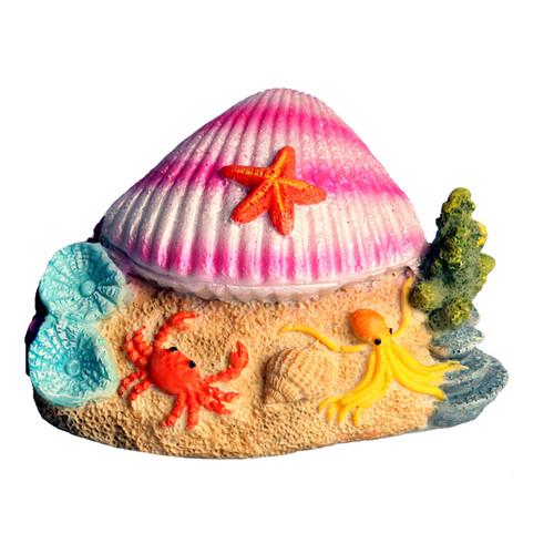 Aqua One Clam on Beach Ornament (36952)
