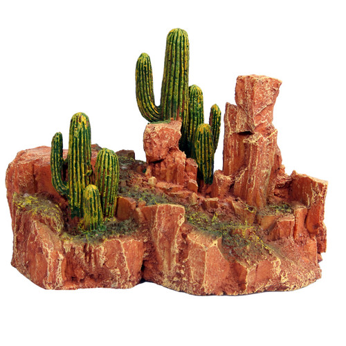 Reptile One Cactus Garden With Resin Base Large (46782)