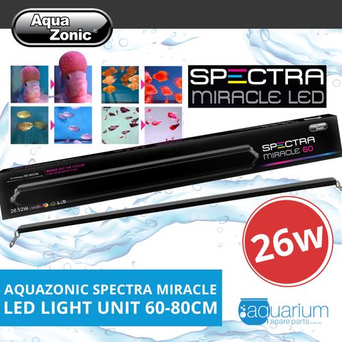 AquaZonic Spectra Miracle LED Slimline Light Unit 60-80cm 26w