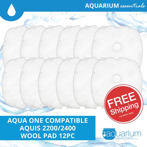 Aqua One Aquis 2200/2400 Compatible Wool Pad (6 pack)