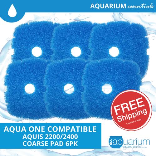 Aqua One Aquis 2200/2400 Compatible Coarse Pad (6 pack)
