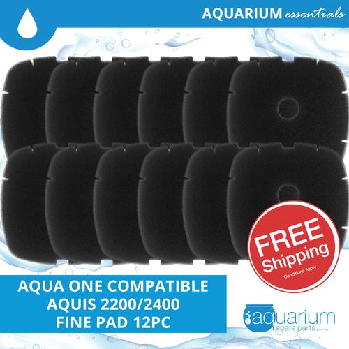 Aqua One Aquis 2200/2400 Compatible Fine Pad (6 pack)