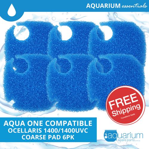 Aqua One Ocellaris 1400/1400UVC Compatible Coarse Pad (6 pack)