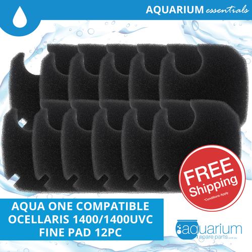 Aqua One Ocellaris 1400/1400UVC Compatible Fine Pad (6 pack)