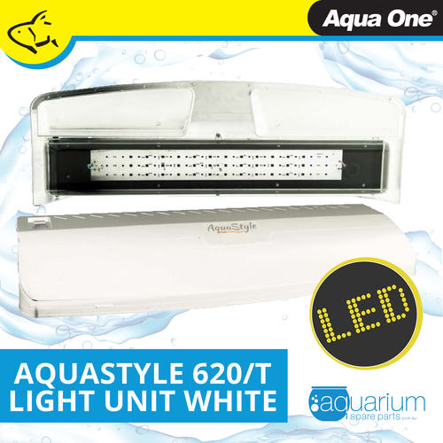 Aqua One AquaStyle 620/620T Complete LED Light Unit White (10951GWH)