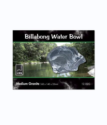 URS Billabong Bowl Med Granite 16 x 14 x 3.5cm 225ml v (12.02G)