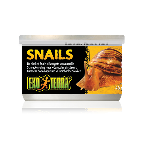 Exo Terra Canned Snails 34g Reptile Lizard Food
