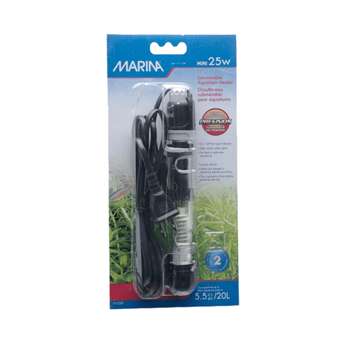 Marina Submersible Pre-Set Heater 15cm 25w
