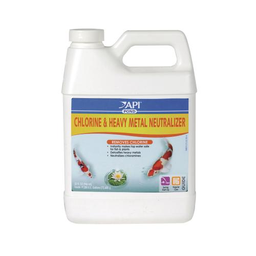 API Pond Care Chlorine & Heavy Metal Detoxifier 946mL