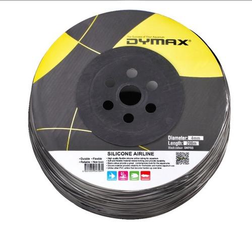 Dymax Silicone Airline Black 4mm (Per Metre)
