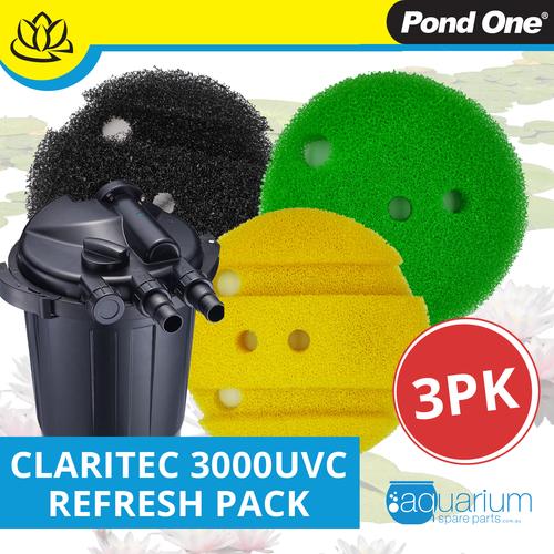 Pond One ClariTec 3000UVC Refresh Pack inc. 208s, 210s & 211s (3pk)