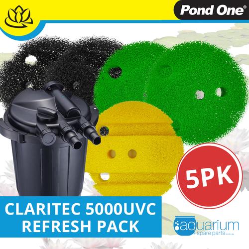 Pond One ClariTec 5000UVC Refresh Pack inc. 208s, 209s & 211s (5pk)