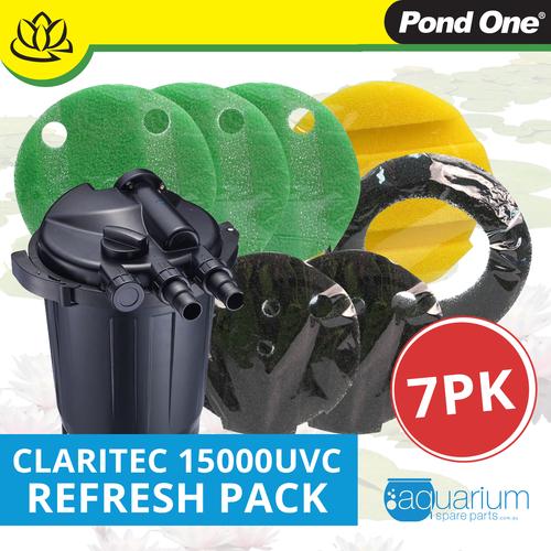 Pond One ClariTec 15000UVC Refresh Pack inc. 208s, 209s, 211s & 212s (7pk)