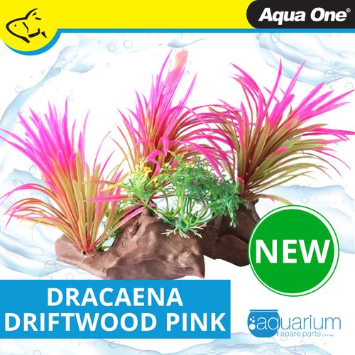 Aqua One Ecoscape Dracaena On Driftwood Pink (28470)
