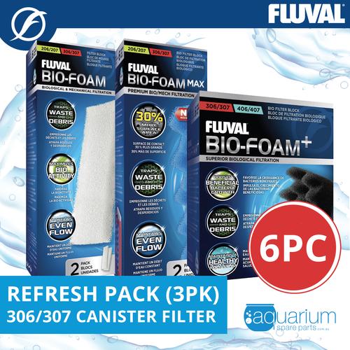 Fluval 306/307 Canister Filter Refresh Pack 3pk (6pc)