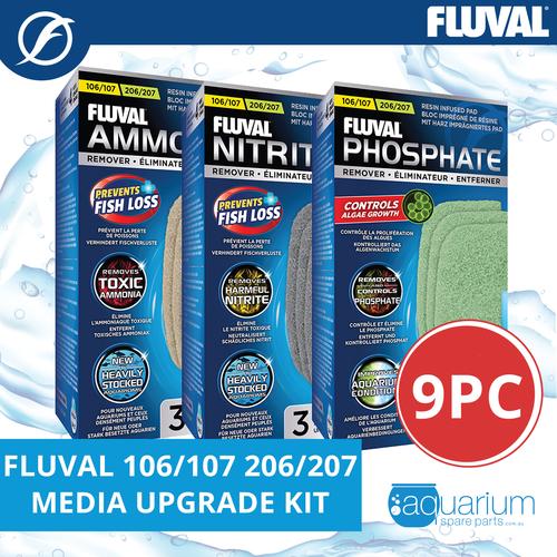Fluval 106/107 & 206/207 Media Upgrade Kit 3pk/9pc (includes Ammonia, Nitrite, Phosphate Remover)