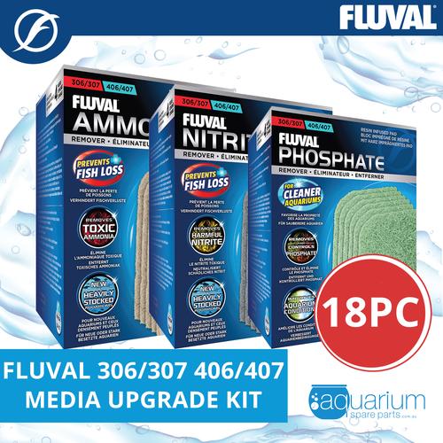 Fluval 306/307 & 406/407 Media Upgrade Kit 3pk/18pc (includes Ammonia, Nitrite, Phosphate Remover)