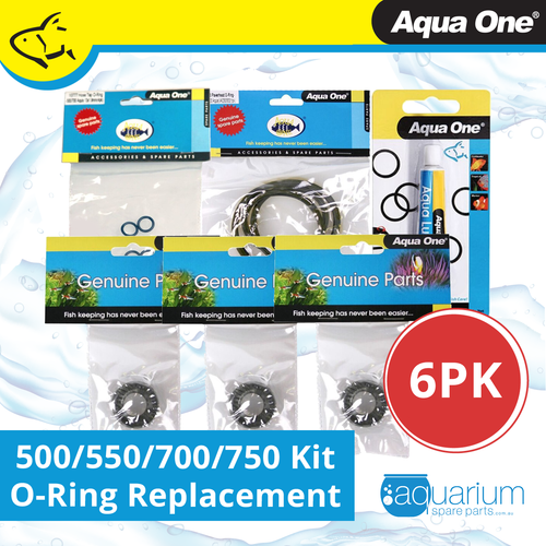 Aqua One 500/550/700/750 Canister Filter O-Ring Replacement Kit