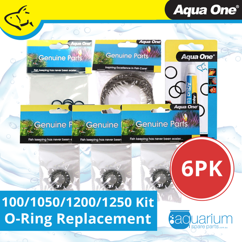 Aqua One 1000/1050/1200/1250 Canister Filter O-Ring Replacement Kit