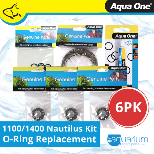 Aqua One Nautilus 1100/1400 Canister Filter O-Ring Replacement Kit