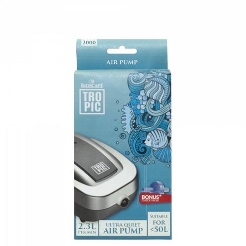Bioscape Tropic Air Pump 2000 Single w/ Check Valve