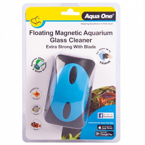 Aqua One Floating Magnet Aquarium Glass Cleaner with Blade (10109)