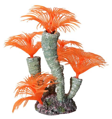 Aqua One Hermit Crab Tube Worm Orange Ornament 13x12x13.5cm (37185OR)