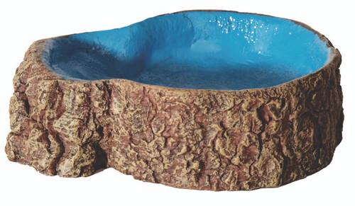 Aqua One Hermit Crab Tree Stump Bowl Blue Small 10x7.6x3cm (37172BL)