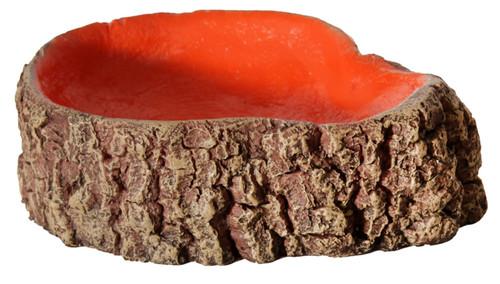 Aqua One Hermit Crab Tree Stump Bowl Orange Small 10x7.6x3cm (37172OR)