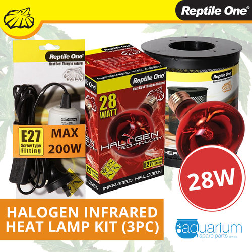 Reptile One Halogen Infrared Heat Lamp Kit 28W (3pc)
