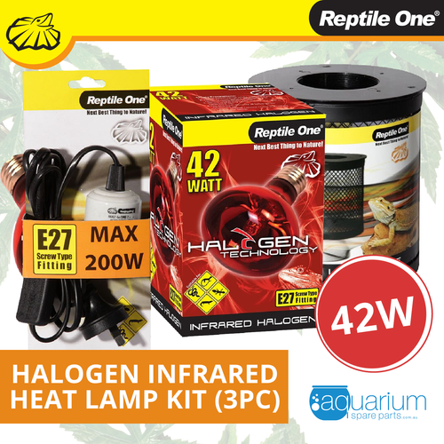 Reptile One Halogen Infrared Heat Lamp Kit 42W (3pc)