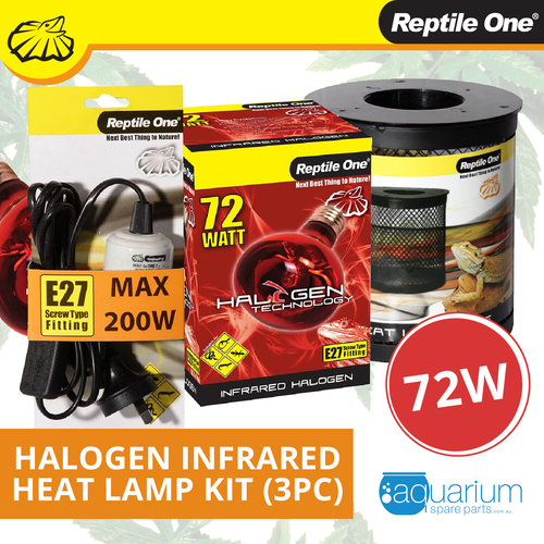 Reptile One Halogen Infrared Heat Lamp Kit 72W (3pc)