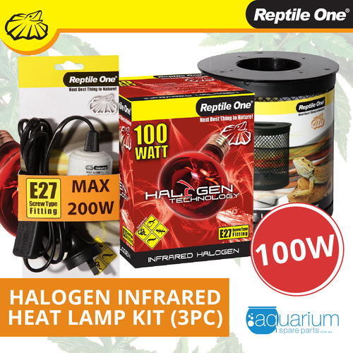 Reptile One Halogen Infrared Heat Lamp Kit 100W (3pc)