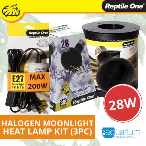 Reptile One Halogen Moonlight Heat Lamp Kit 28W (3pc)