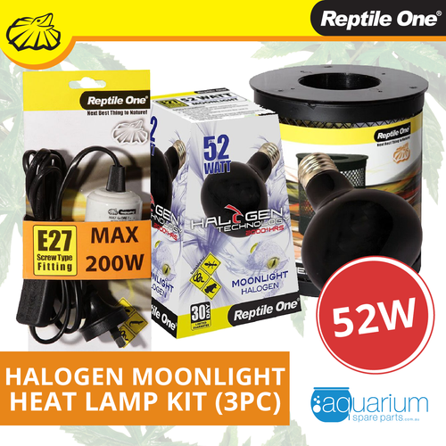 Reptile One Halogen Moonlight Heat Lamp Kit 52W (3pc)