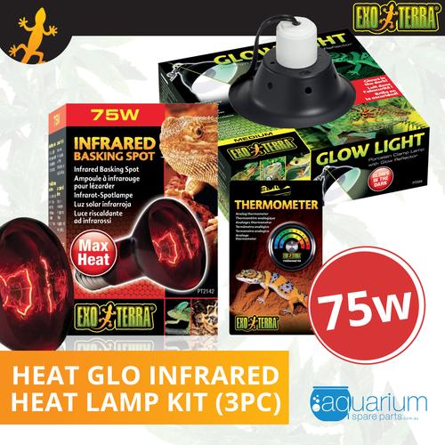 Exo Terra Heat Glo Infrared Heat Lamp Kit 75W (3pc)