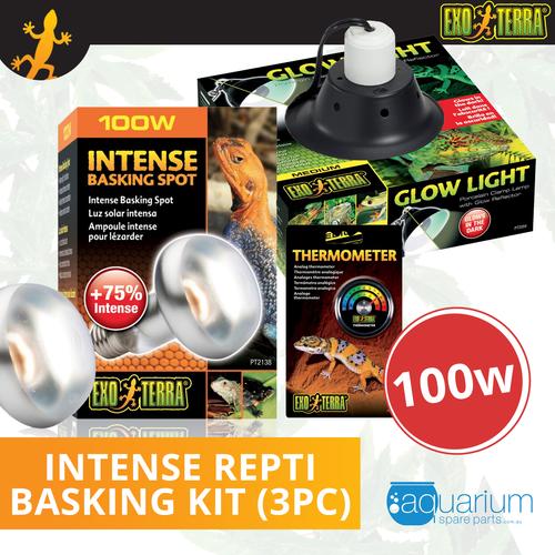 Exo Terra Intense Repti Basking Spot Lamp Kit 100W (3pc)