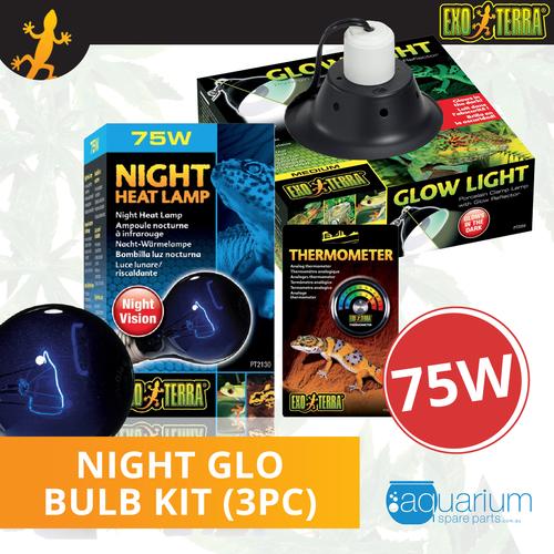Exo Terra Night Glo Bulb Kit 75W (3pc)