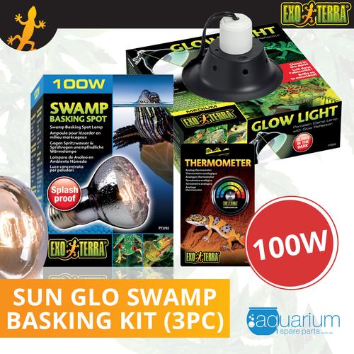 Exo Terra Sun Glo Swamp Glo Basking Spot Bulb Kit 100W (3pc)
