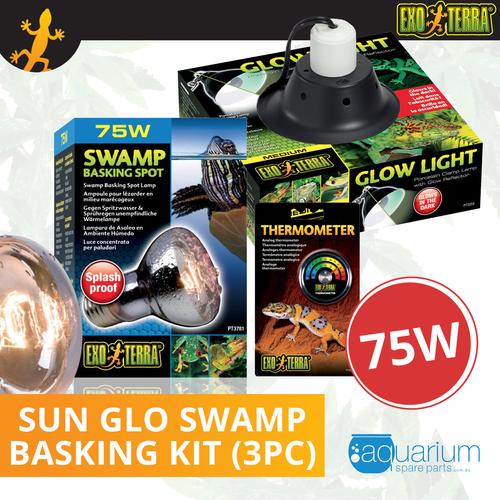 Exo Terra Sun Glo Swamp Glo Basking Spot Bulb Kit 75W (3pc)