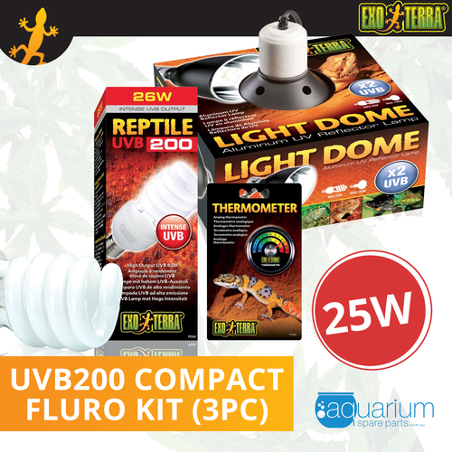 Exo Terra UVB200 Compact Fluoro Bulb Kit 25W (3pc)