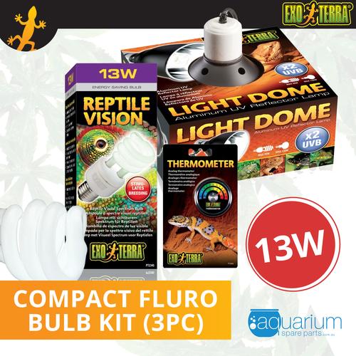 Exo Terra Reptile Vision Compact Fluro Bulb Kit 13W (3pc)