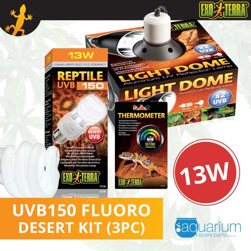 Exo Terra Reptile UVB 150 (Repti Glo 10.0 Compact Fluorescent) Kit 13W (3pc)