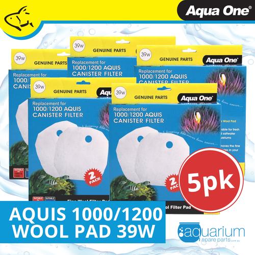 Aqua One Aquis 1000/1200 Wool Pad (2pc) 39w BULK BUY 5pk