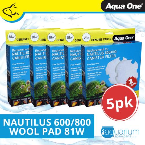 Aqua One Nautilus 600/800 Wool Pad (2pc) 81w BULK BUY 5pk