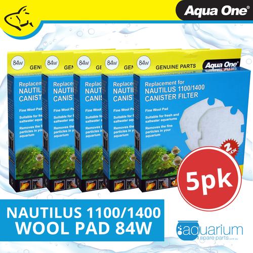 Aqua One Nautilus 1100/1400 Wool Pad (2pc) 84w BULK BUY 5pk