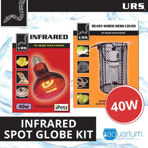URS Infrared Spot Lamp 40W Kit w/ Mesh Cover